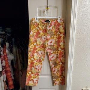 Classy floral dressy pants